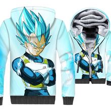 Dragon Ball Z Hoodies Men 2019 New Winter 3D Jackets Thick Warm Hooded Long Sleeve Sweatshirts Loose Fit Harajuku Sportswear
