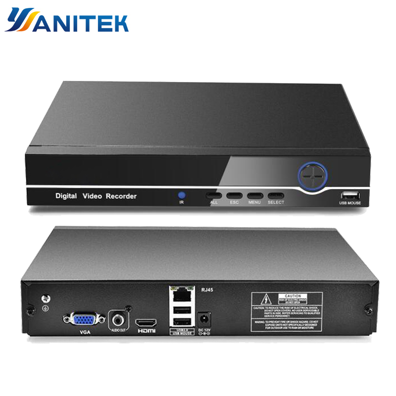 HI3536C H.265 8CH 4K / 25CH 5MP 32CH 1080P CCTV NVR 4K Output ONVIF Security Video Recorder H.265 Audio 1*SATA Port XMEYE P2P Бороскопы