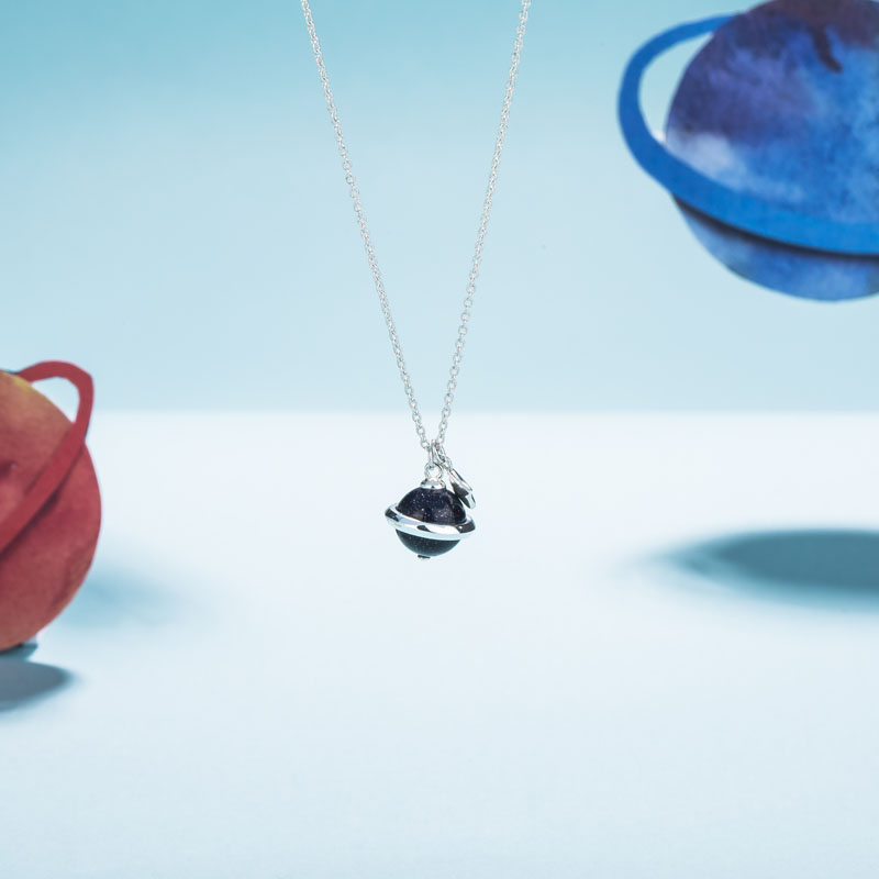 SA SILVERAGE 2018 женский, черный драгоценных камней ожерелья реальные 925 пробы Серебряные ожерелья Макси Винтаж алмазные подвески для Для женщин