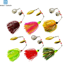 6pcs 12pcs 13-17g fishing Skirts spinner bait Chatterbait Elite Series with silicone for pike bass tackle