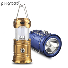 Portable Camping Solar Lantern Outdoor Rechargeable LED Tent Lights Collapsible Emergency Solar Lamp Flashlight For Hiking SL002 стоимость