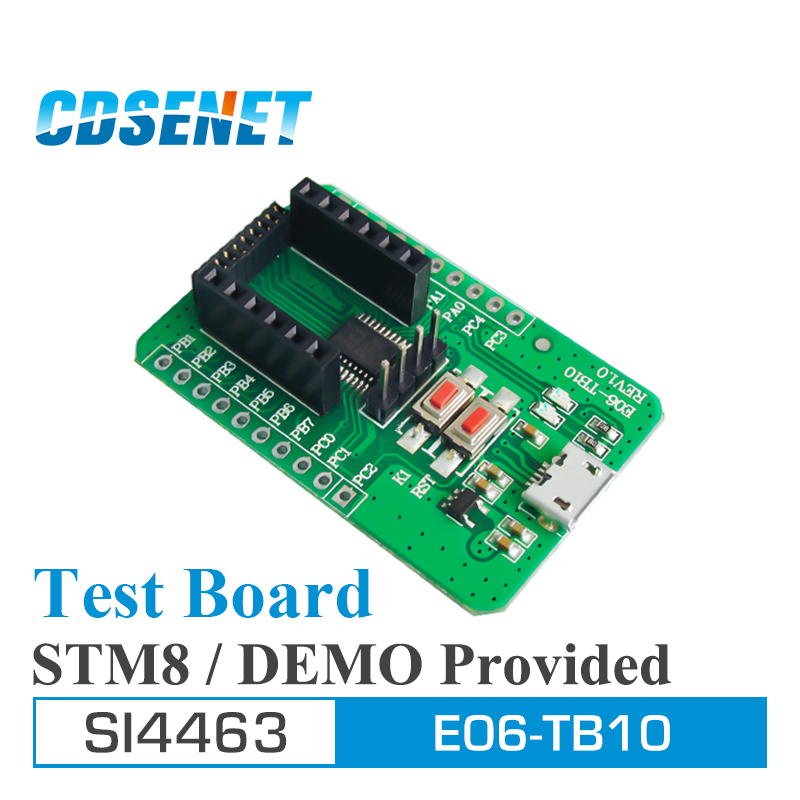 SI4463 Wireless rf Module Test Board USB to TTL 433MHz Computer Micro USB STM8 For E10 rf ModuleSI4463 Wireless rf Module Test Board USB to TTL 433MHz Computer Micro USB STM8 For E10 rf Module