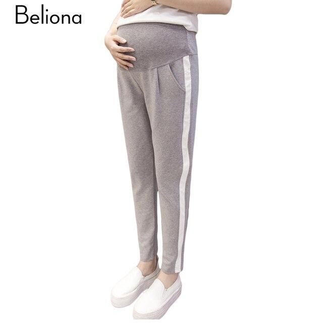 nuevo estilo original de costura caliente mejor mayorista € 27.15 |Moda maternidad pantalones de chándal negro gris embarazo deportes  pantalones 2017 pantalones para mujeres embarazadas verano maternidad ropa  ...