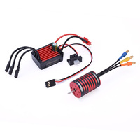 GTSKYTENRC Combo 2435 4500KV 4800KV Brushless Motor w/ 25A ESC for 1:16 1:18 RC Buggy Drift Racing Car