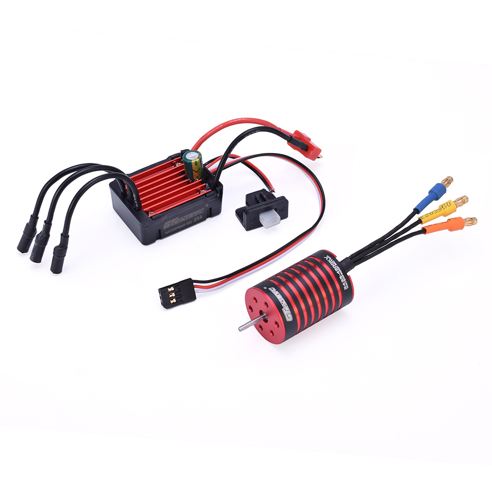 GTSKYTENRC Combo 2435 4500KV 4800KV Brushless Motor w/ <font><b>25A</b></font> <font><b>ESC</b></font> for 1:16 1:18 RC Buggy Drift Racing Car image