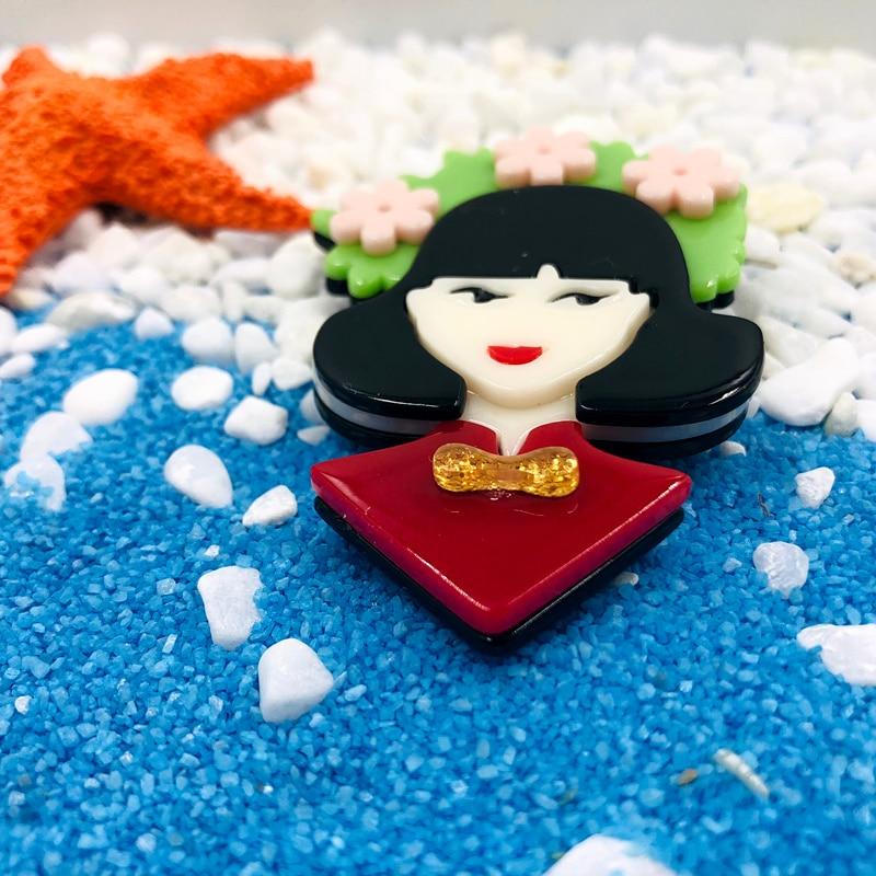 SexeMara-Acrylic-Girl-Brooch-Pins-Green-Pink-Flower-Chinese-Girl-Pins-Figure-Lapel-Pin-For-Women (1)