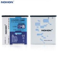 Originales NOHON Batería BA800 Para Sony Xperia V/S/VC LT25i LT25c LT26i LT26ii Real Capacidad 1700 mAh Baterías De Polímero De Litio