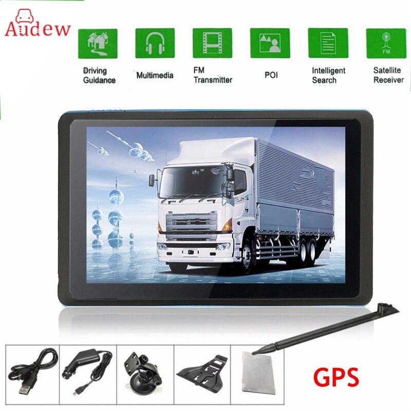5 inch HD Car GPS Navigation CPU 800MHZ FM/8GB/DDR3 Maps For Europe/US/AU TRUCK Navi /Camper Caravan