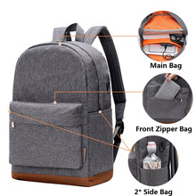 USB Charging Laptop Backpack Casual Style Waterproof Bag Men Women Anti Thief Multifunction Business Travel