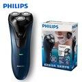 Подлинная Электробритва Philips FT668 с 1 светодиодный индикатор роторная перезаряжаемая моющаяся Влажная/сухая Мужская электрическая бритва
