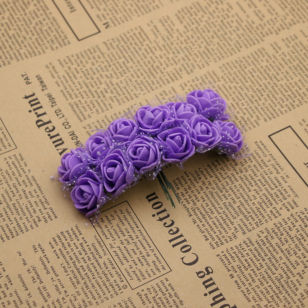 12pcs Cheap Free Shipping Diy Mini Roses Artificial Flowers Lace