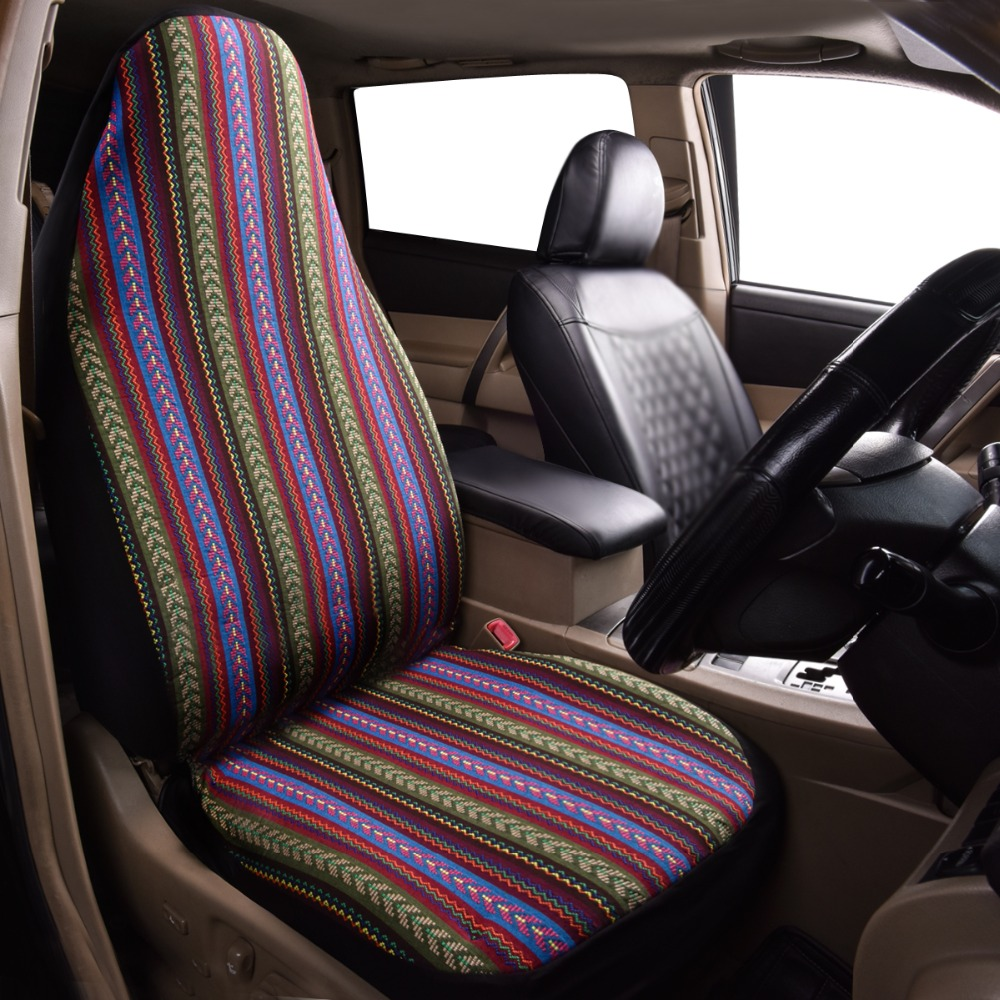 Car-pass Car Seat Cover folk-custom Pattern Universal fit for most cars Automobiles Seat Covers Interior Accessories 1 piece