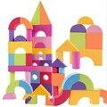 Bloque de EVA Suave del cabrito Fijó 50 unids para niños Suaves Educativos Montessori juguetes inteligentes temprana ventaja inicial de formación
