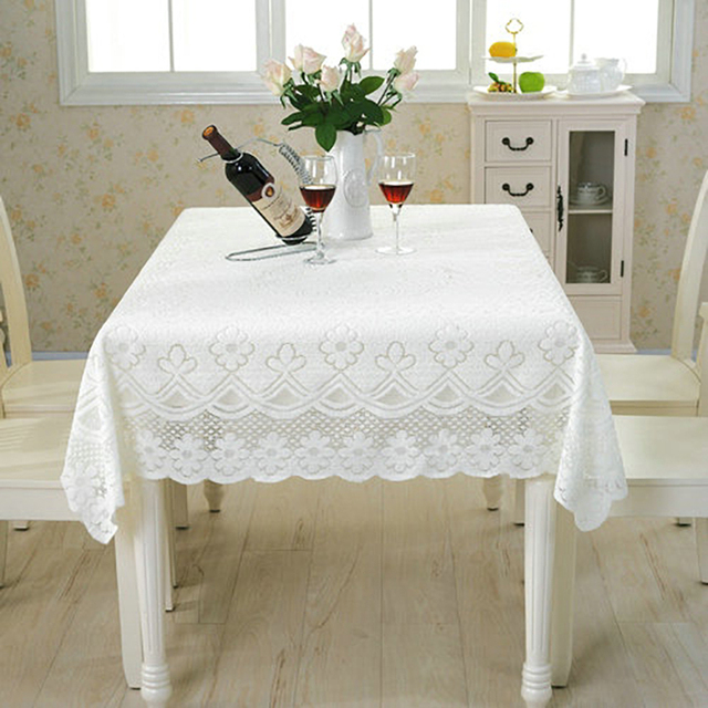 Pastoral Style Lace Peony Floral Home Decor Hotel Dining Table Cloth Round  Tablecloth Tea Table Covers Wedding Party Tablecloths