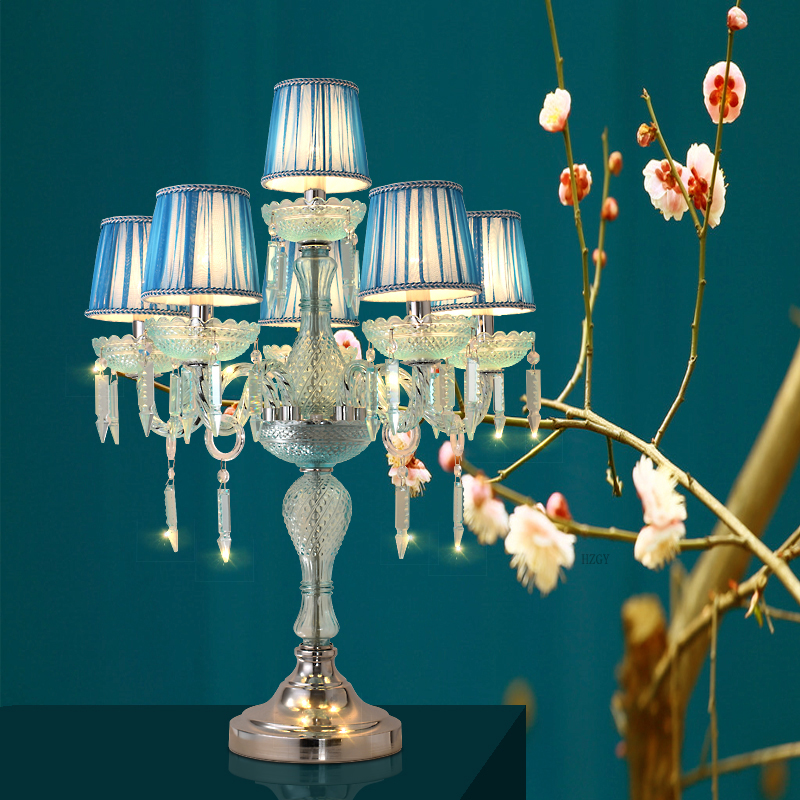 Crystal table lamp European romantic Wedding candles ...