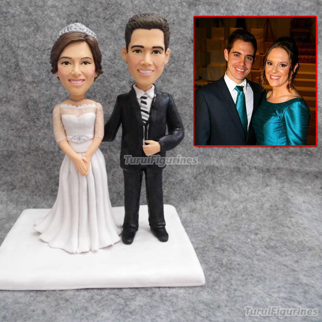 Custom Wedding Cake Topper Wedding Cake Topper Ulang Tahun Pribadi Selamanya Cinta Patung Tembikar Tanah Liat Miniatur Pernikahan Rumah