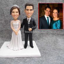 Custom wedding cake topper birthday personalized forever love figurine pottery clay miniature home
