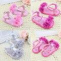 Стильный Новый Сладкий 5 Цвета 3 Размер Новорожденного Летом Prewalker Обувь Принцесса Девушки Парни Дети Мягкой Подошве Анти-скольжения Цветок
