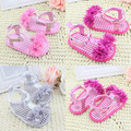 Stylish New Sweet 5Colors 3Size Newborn Baby Summer Prewalker Shoes Princess Girls Boys Kids Soft Soled Anti-slip Flower