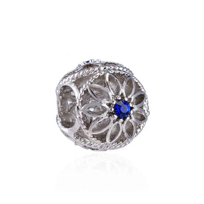 Btuamb חדש אופנה קריסטל לב פרח פיל דבורת ציפור קסמי חרוזים Fit פנדורה צמידי שרשראות לנשים ביצוע תכשיטים