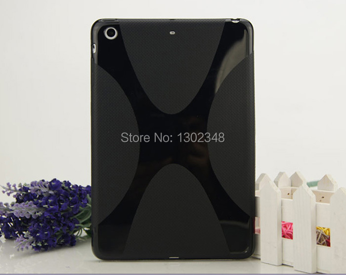 New Fashion Anti-Skid Matte X Line Soft Silicon Rubber TPU Gel Cover Protective Pouch Bag Case For Apple Ipad Mini 1 2 3 Tablet new x line soft clear tpu case gel back cover for samsung galaxy tab s2 s 2 ii sii 8 0 tablet case t715 t710 t715c silicon case