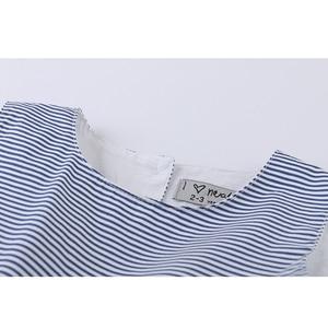 Image 3 - LIEBE DD & MM Mädchen Kleider 2019 Sommer Neue kinder Tragen Mädchen Mode Süße Gestreifte Taille Bogen Ärmellose Weste kleid