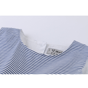 Image 3 - LOVE DD&MM Girls Dresses 2020 Summer New Childrens Wear Girls Fashion Sweet Striped Waist Bow Sleeveless Vest Dress