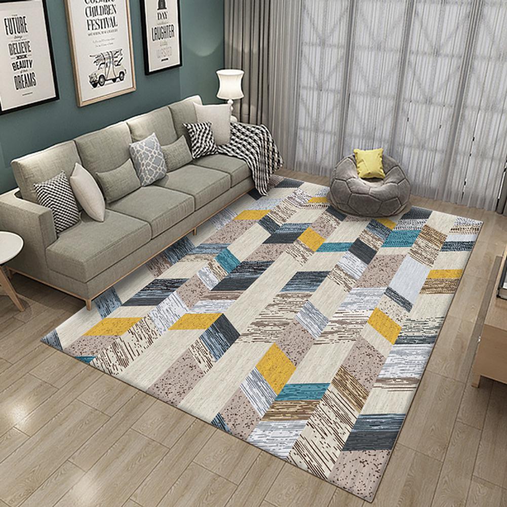 Nordique simple table basse salon tapis impression enfants ramper tapis salon tapis 100*160 CM