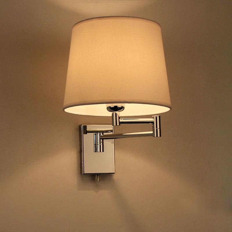 Освещение бра Современные краткие ofhead ткань лампа E27 настройка проекта свет