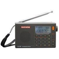 RADIWOW R 108 радио цифровой портативный FM стерео/LW/SW/MW/AIR/DSP приемник с ЖК дисплей/высокое качество звука для внутреннего и наружного