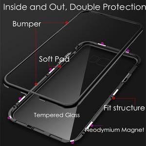 Магнитная Адсорбция металлический чехол для samsung Galaxy S8 S9 S10 плюс S10E S7 край M30 M20 M10 A30 A50 A60 A70 A7 A9 J4 J6 плюс 2018