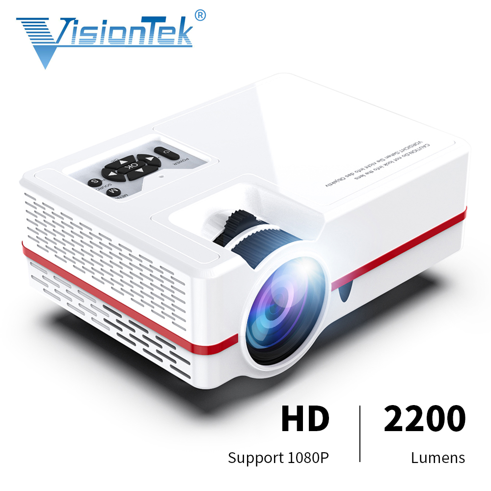 VISIONTEK MINI Projector VS313 Newest LED Projector For Full HD 1920*1080 Video Home Cinema Movie Beamer Proyector image