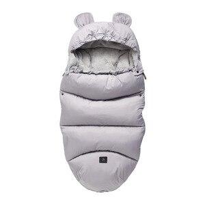 Image 3 - Kış bebek arabası uyku tulumu Yoya artı Yoyo Vovo kış sıcak Sleepsacks bornoz bebek tekerlekli sandalye zarflar yenidoğan ayak