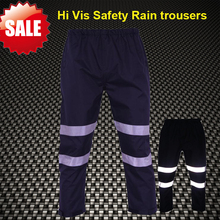 SF אפוד היי vis לעבוד גשם מכנסיים גשם עבודת מכנסיים מכנסיים