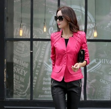 Wholesale Fashion New Women's Spring Leather Coats Female Korean Slim  Zipper Ladies Jacket  Casaco de couro Z922