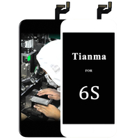 5pcs Tianma For IPhone 6S LCD Assembly Black White No Dead Pixel Camera Holder With 3D