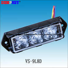VS 9L8D Dual Color LED Grill Lights 3W LED 15 flash pattern waterproof LED surface mount