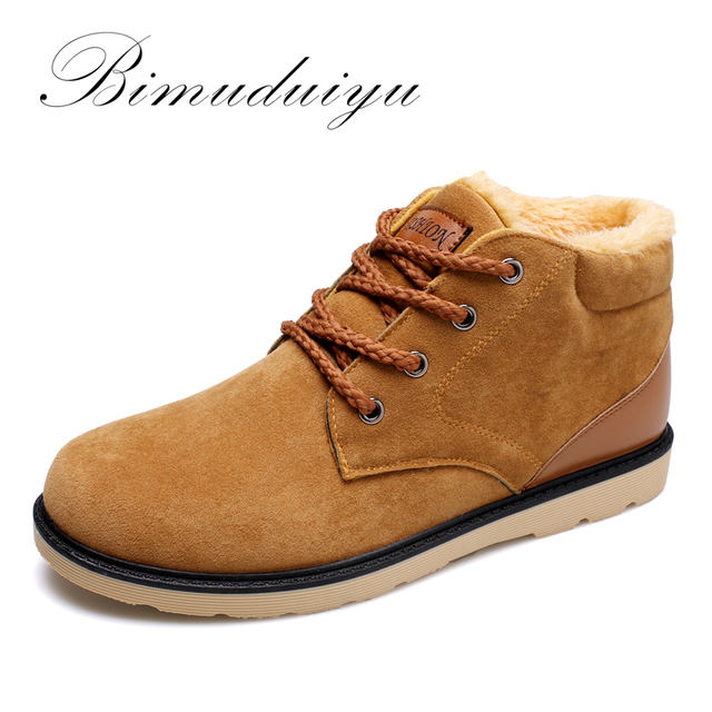 Mens Boots Leather Boots Warm Fashion Light and Comfortable Casual Shoes Winter Ankle Boots