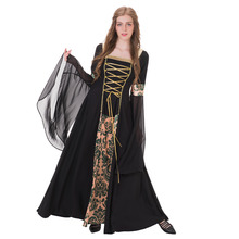 Velvet Medieval Renaissance Dress Womens Vintage Gothic Lolita Victorian Civil War Dress Ball Gown Fantasy Halloween Costume