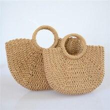 Straw Bags for Women 2019 Summer hand made Rattan Bag Handmade Woven Beach Bag Bohemia Bali Handbag bolsos mimbre недорого