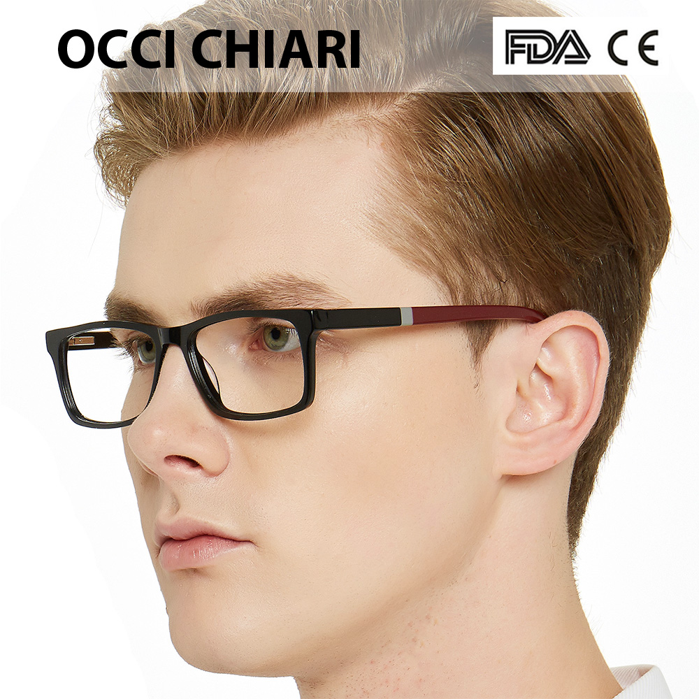 NEW DESIGN Fashion Men Square Metal Frames Optical Glasses Transparent Clear Lens reading Glasses OCCI CHIARI OC7007-in Men's Eyewear Frames from Apparel Accessories