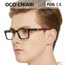 Yeni tasarım moda erkek kare Metal çerçeveleri optik gözlük şeffaf şeffaf Lens okuma gözlüğü OCCI CHIARI OC7007