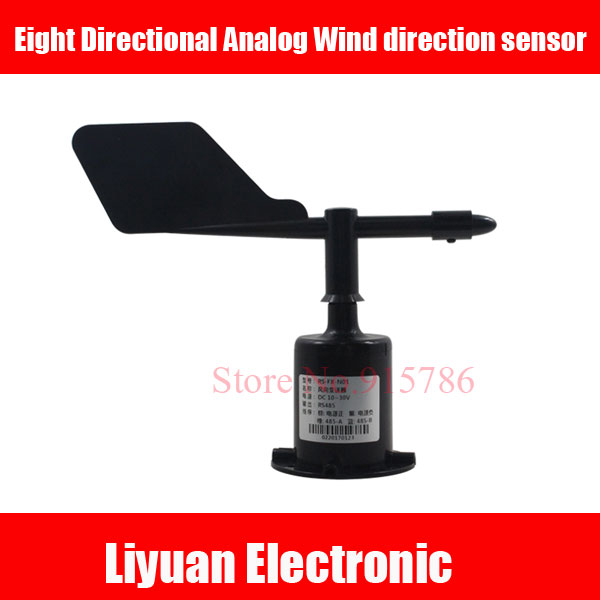 0 5V Analog Wind direction sensor / 4 20MA ABS material Wind Direction Transmitter / Eight Directional Wind Direction10 30V-in Sensors from Electronic Components & Supplies    1