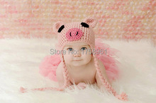 Baby boy hat, baby girl hat, photo prop, crochet pig hat, farm hat, baby shower gift, pink pig, animal
