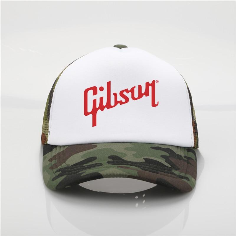 Fashion hat Gibson Printing   baseball     cap   Men women Summer Trend   Cap   Youth Joker sun hat Gibson hip hop hat Beach Visor hat