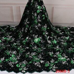 Image 3 - Бархатная кружевная ткань для платьев, новейшая нигерийская французская фатиновая кружевная ткань с пайетками, Высококачественная африканская кружевная ткань с блестками, для платьев, для вечеринок, на лето, 2019