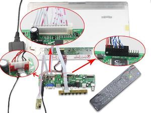 Image 5 - Kit für LP156WH4 TL panel 1366X768 Controller board Kit remote 40pin LVDS LG display TV RF AV USB HDMI DVI VGA LED LCD