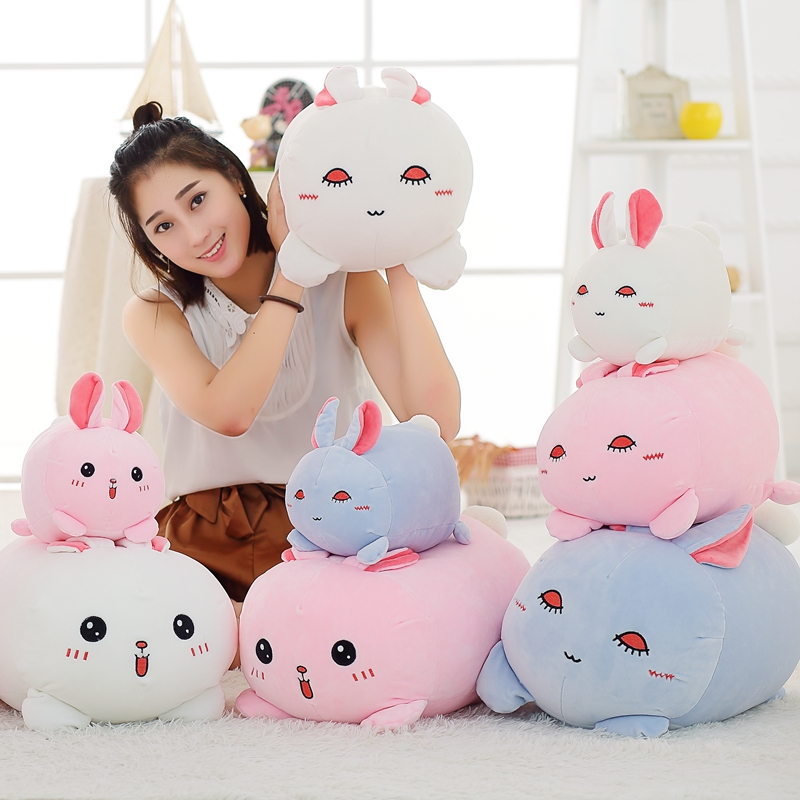 Down stuffed cotton rabbit 37cm Rabbit Plush Toy Doll Staffed Animal Lying Rabbit Toy Car & Home Decoration Kids Toys Girls Gift