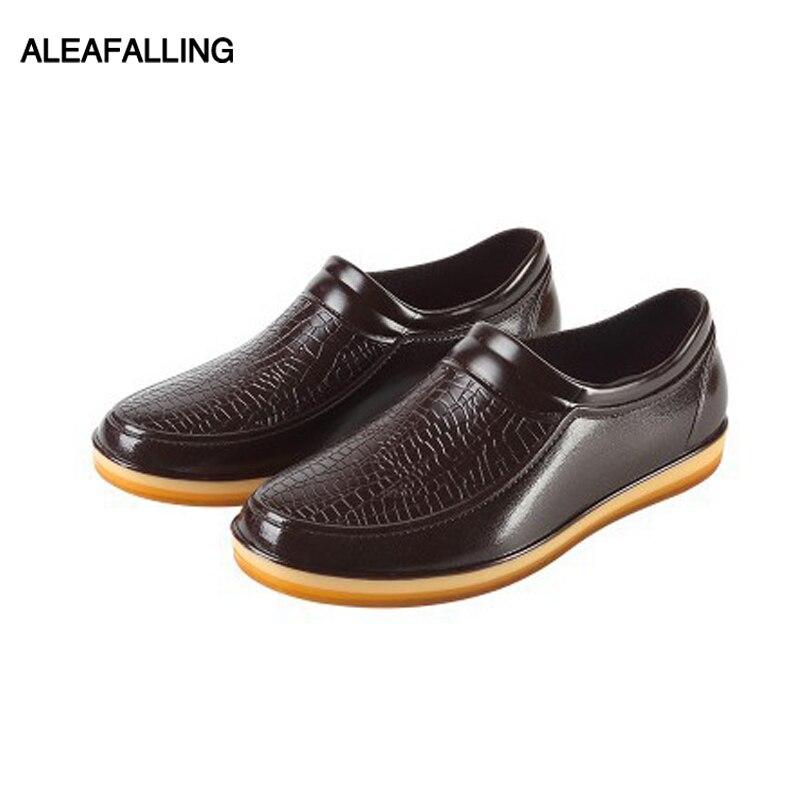 Aleafalling Männer Regen Stiefel Wasserdichte Schuhe Unisex Muscle Sohle Garten Küche Dame Smart Schuhe Jungen Auto Waschen Schuhe Aw03 AusgewäHltes Material