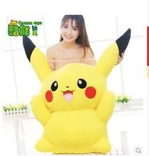 huge 100cm plush toy Pokemon Pikachu doll throw pillow gift w5323